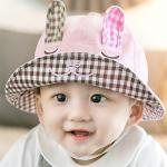 หมวกปีกรอบ DA กระต่ายน้อยมีหู สีชมพู