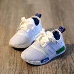 Baby Touch รองเท้าเด็ก รองเท้าพื้นแข็ง อดิดาส NMD (เทา)
