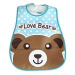 ผ้ากันเปื้อนเด็ก กันน้ำ ลายหมีกรีซลี่