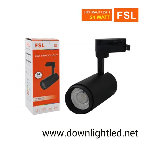 โคมไฟแทรคไลท์ LED 24w หน้ากลมสีดำ (แสงขาว)