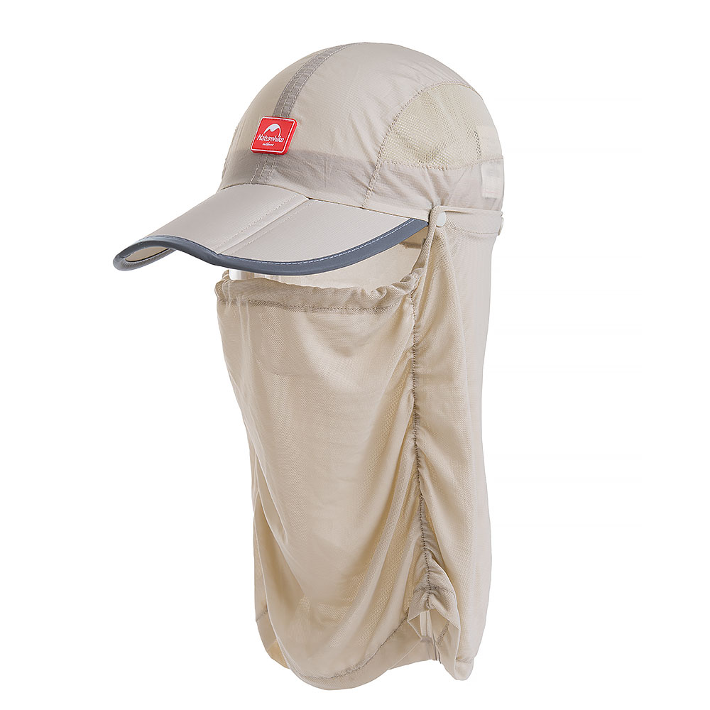 Nature Hike   Folding Quick-Dry Cap with Protective Breathable Mesh (Khaki)