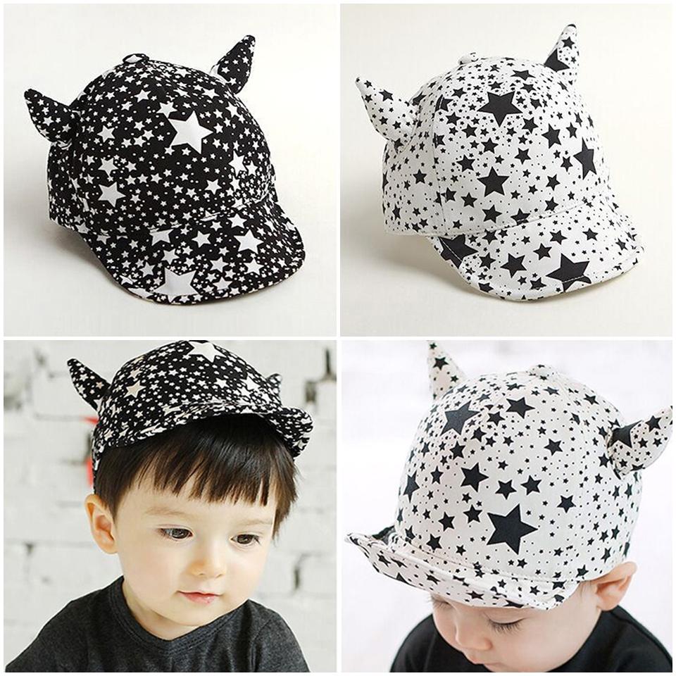 หมวกเด็ก แก๊ปดาวมีเขา (Hat - BN)