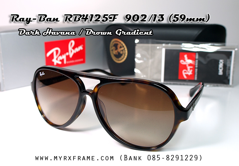 RayBan Cats 5000 RB4125F 902/13 (เลนส์สีน้ำตาลไล่เฉด)