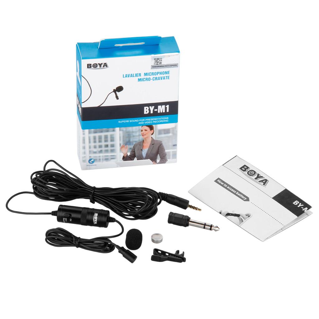 ไมค์ BOYA BY-M1 แบบคลิป สำหรับ smart phone,กล้อง DSLR , PC, audio recorder