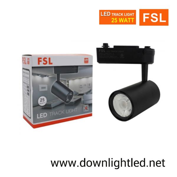 โคมไฟแทรคไลท์ LED 25w หน้ากลมสีดำ (แสงส้ม)