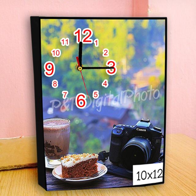 รูปภาพกรอบลอยราคาถูก ขนาด 10x12 + นาฬิกา