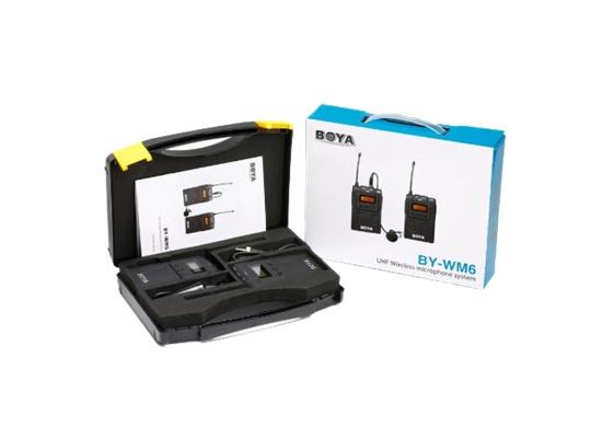 ไมค์ BOYA BY-WM6 UHF wireless microphone ไมโครโฟนสำหรับการสัมภาษณ์