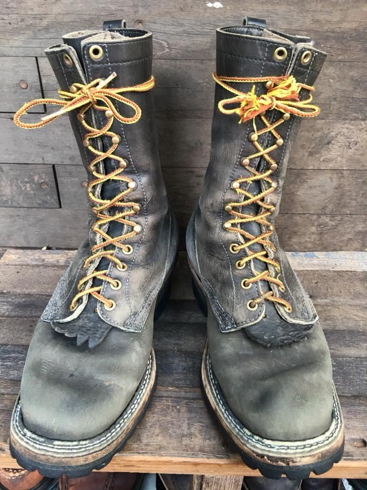 Vintage Custom White's boot size 10E