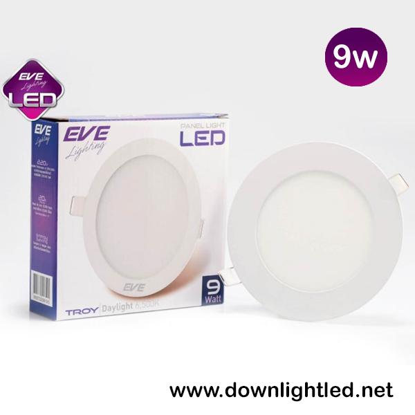 ดาวน์ไลท์ LED 9w รุ่น TROY ยี่ห้อ EVE (แสงขาว)