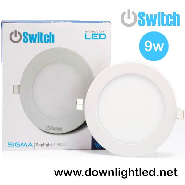 ดาวน์ไลท์ LED 9w รุ่น Panlellight Sigma ยี่ห้อ Switch (แสงขาว)