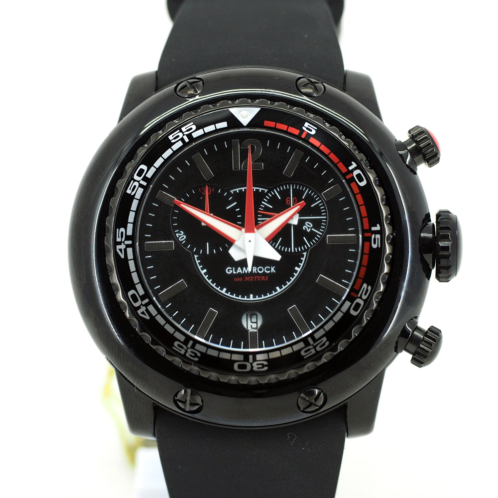 "Glam Rock ""Sport"" Chronograph Black Color"