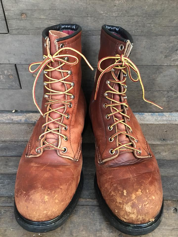 Vintage redwing safety work boot size 9.5 E