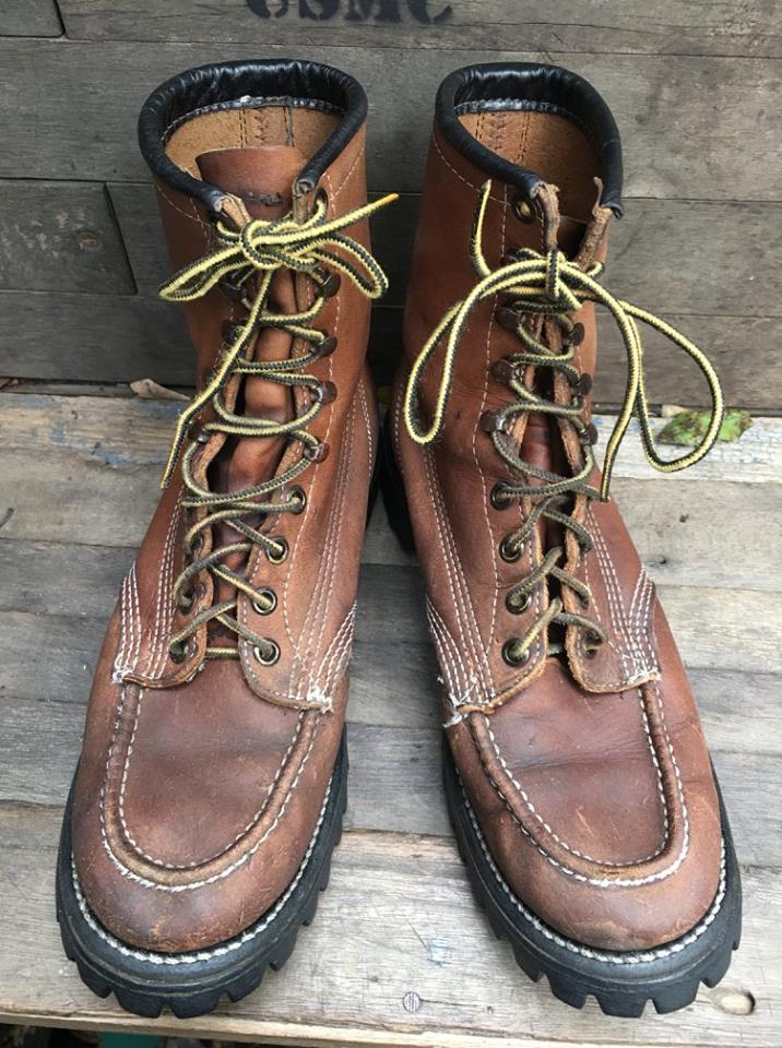 Vintage Chippewa Work boot ป้ายดำ เบอร์7.5E