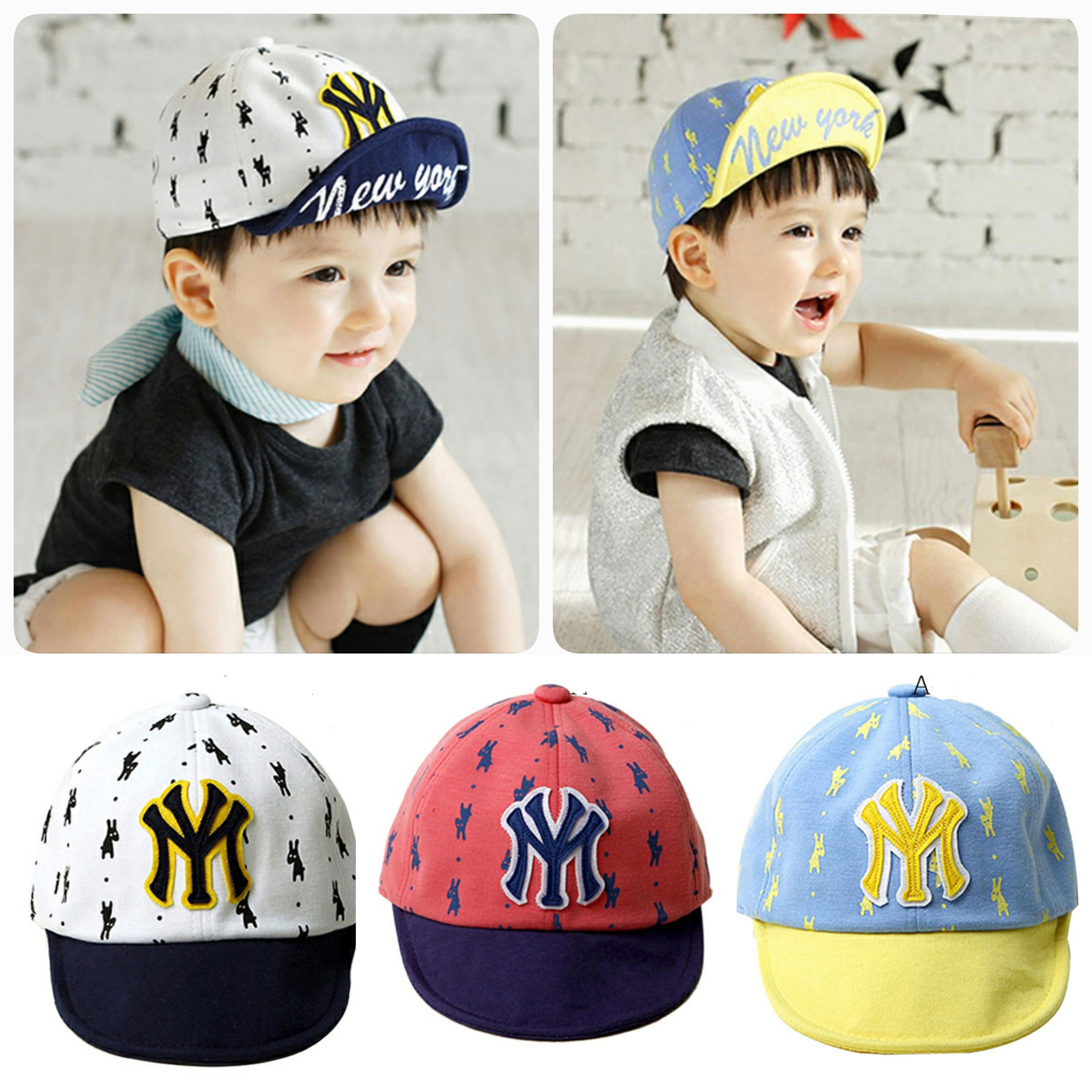 Baby Touch หมวกเด็ก แก๊ปเบสบอล NY (Hat - AG)