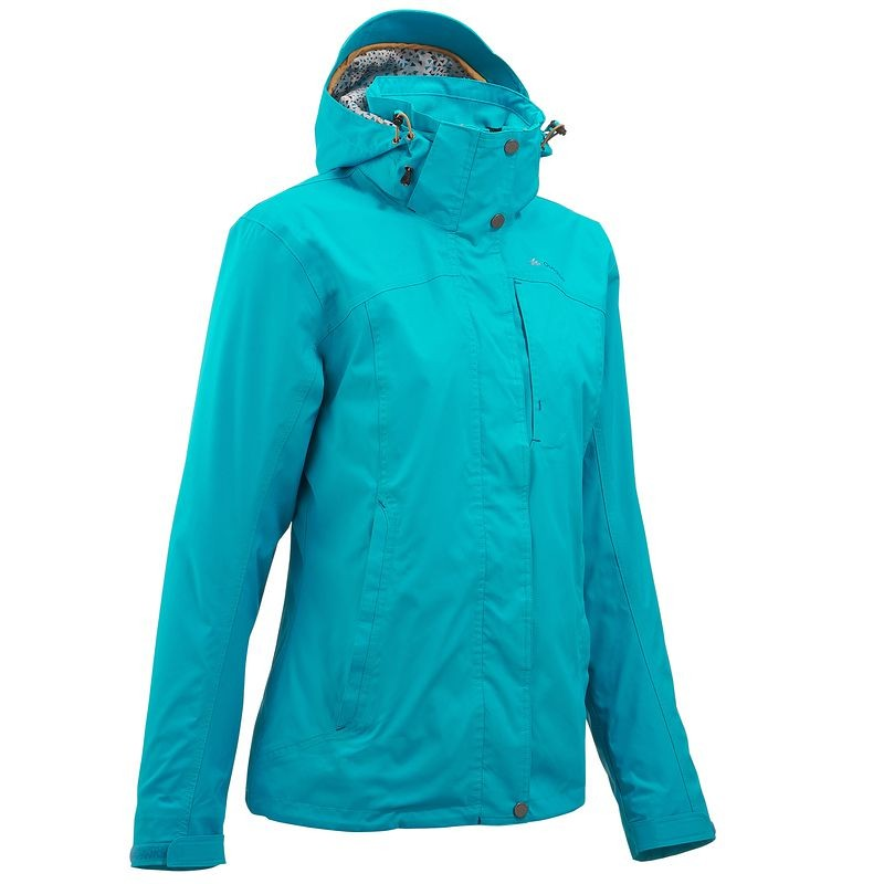 QUECHUA Women's Waterproof Jacket (Blue)