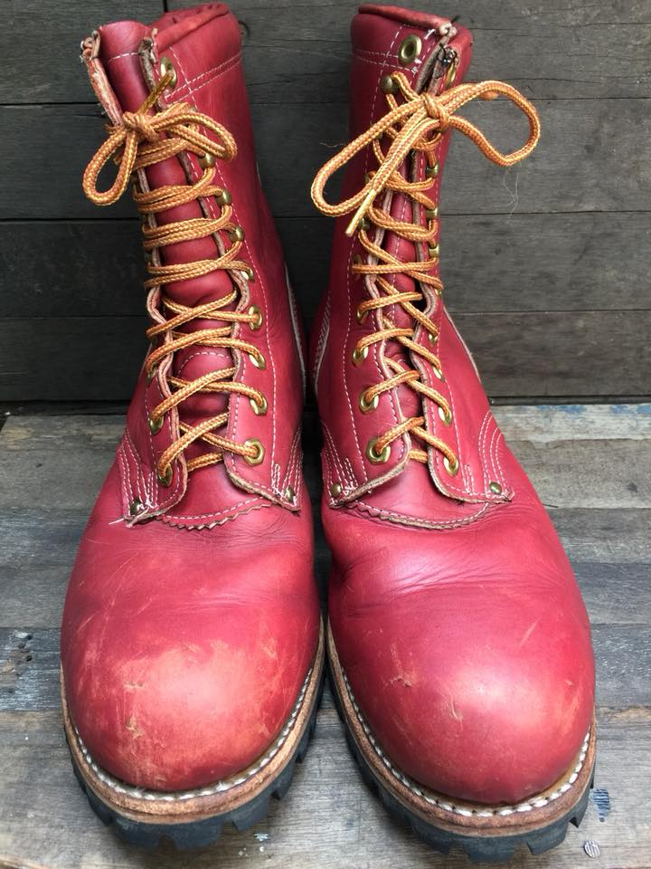 Vintage logger boot made in USA size 10.5