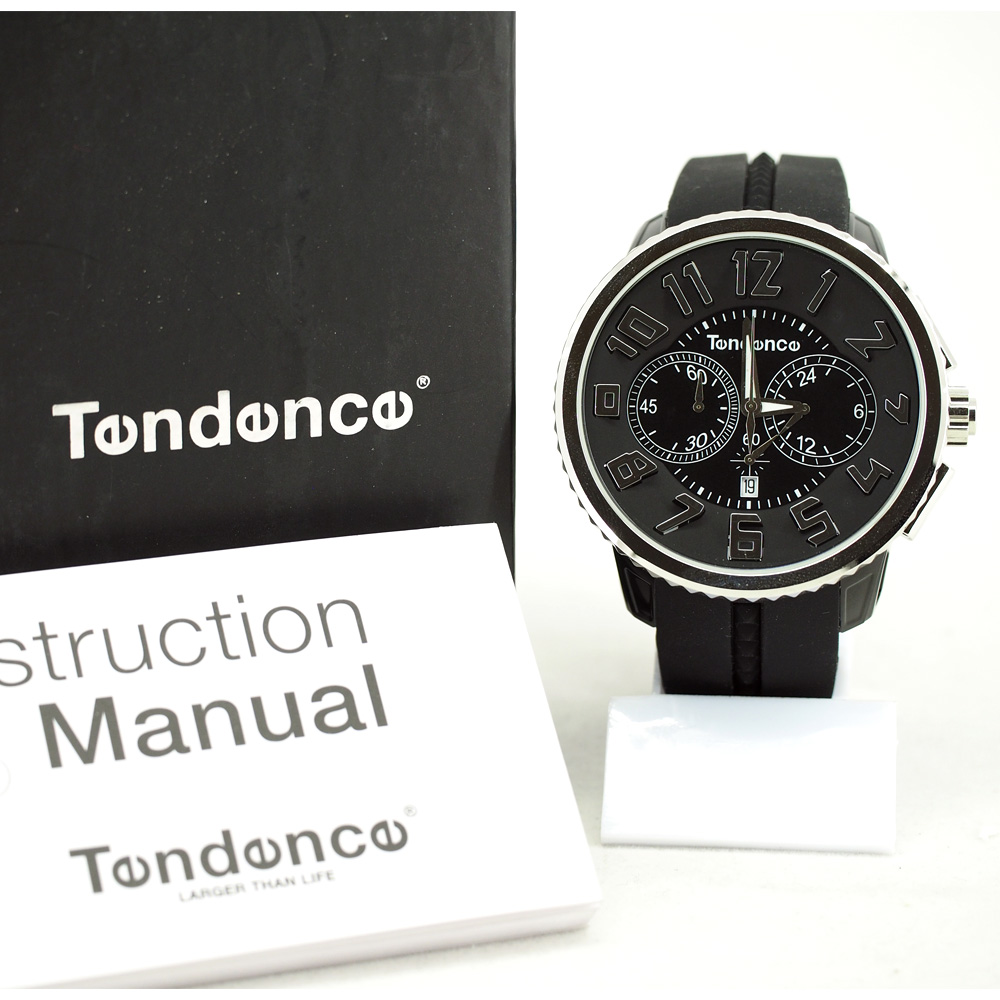 Tendence Gulliver Round Chronograph - Silver / Black