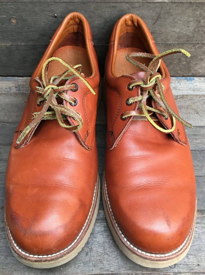 Vintage 70's RED WING #9123-1 Oxford Leather Shoes made in usa size 10 D