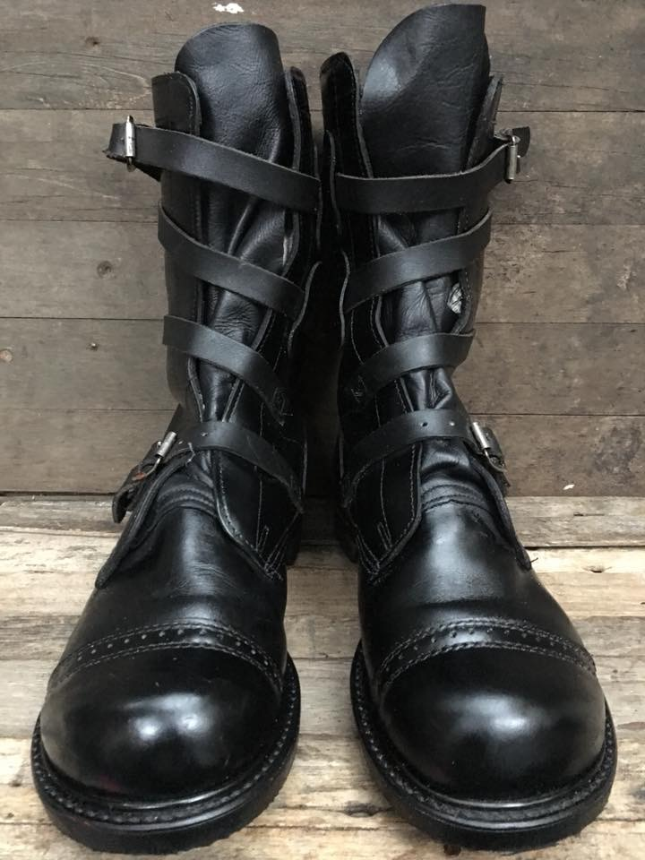 11.Vintage military 1990 HH USA TANKER boot size 8.5E