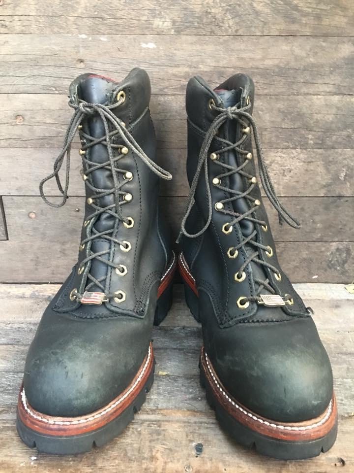 3.Chippewa logger boot หัวเหล็ก size8Ee