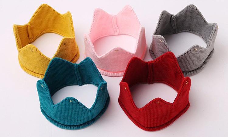 หมวกเด็ก พรีเมี่ยม ผ้านิ่ม มงกุฎ (Hat - FP)
