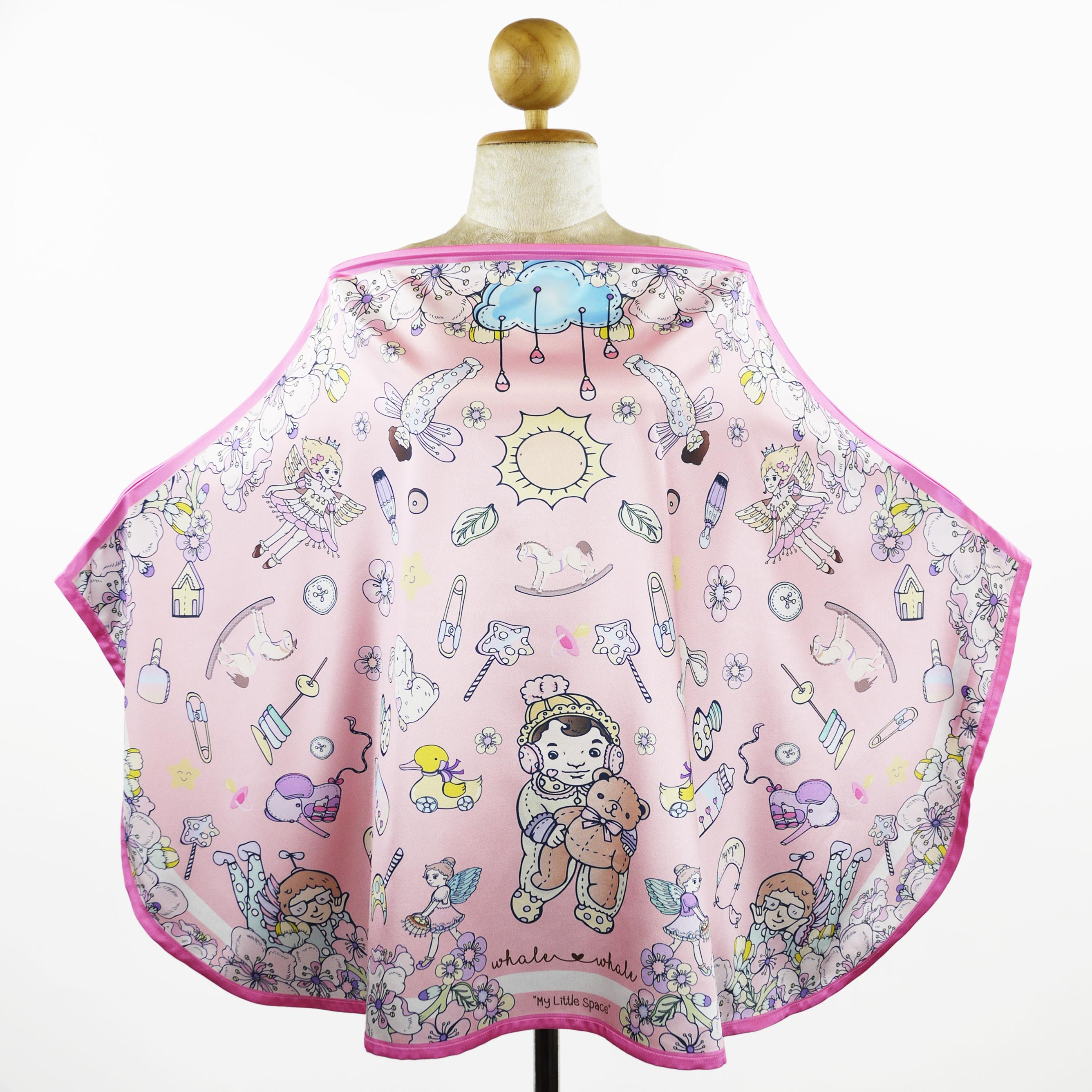ผ้าคลุมให้นม 'ทัชจัง' ลาย whale&#x2665whale My Little Space - สีชมพูพาสเทล