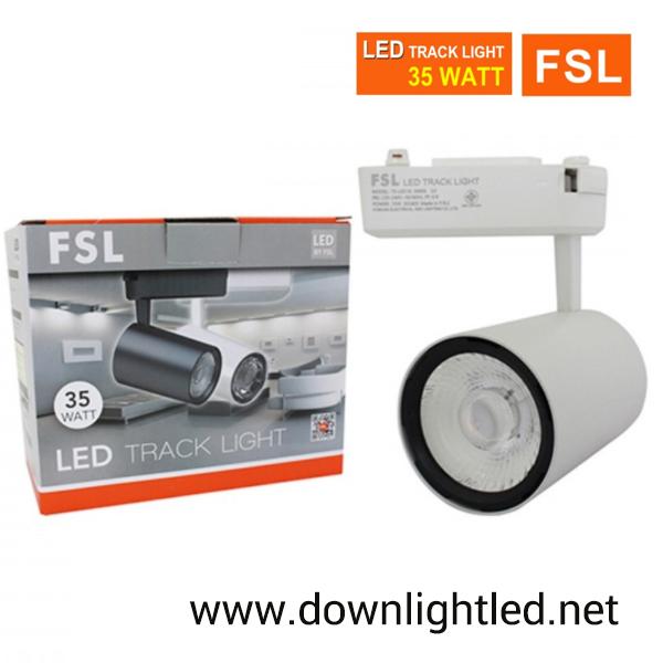 โคมไฟแทรคไลท์ LED 35w หน้ากลมสีขาว (แสงส้ม)