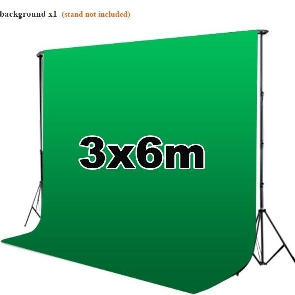 ผ้าฉากสตูดิโอ ขนาด 3x6 เมตร สีเขียว (ใช้ทำGreen effectได้)