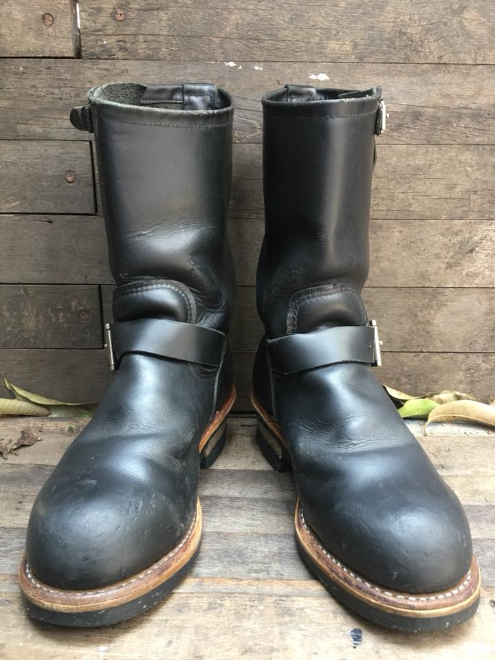 RED WING 2268 ENGINEER BOOTS 2 BUCKLE