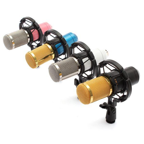 ไมค์อัดเสียง BM800 คอนเดนเซอร์ Pro Condenser Mic Microphone