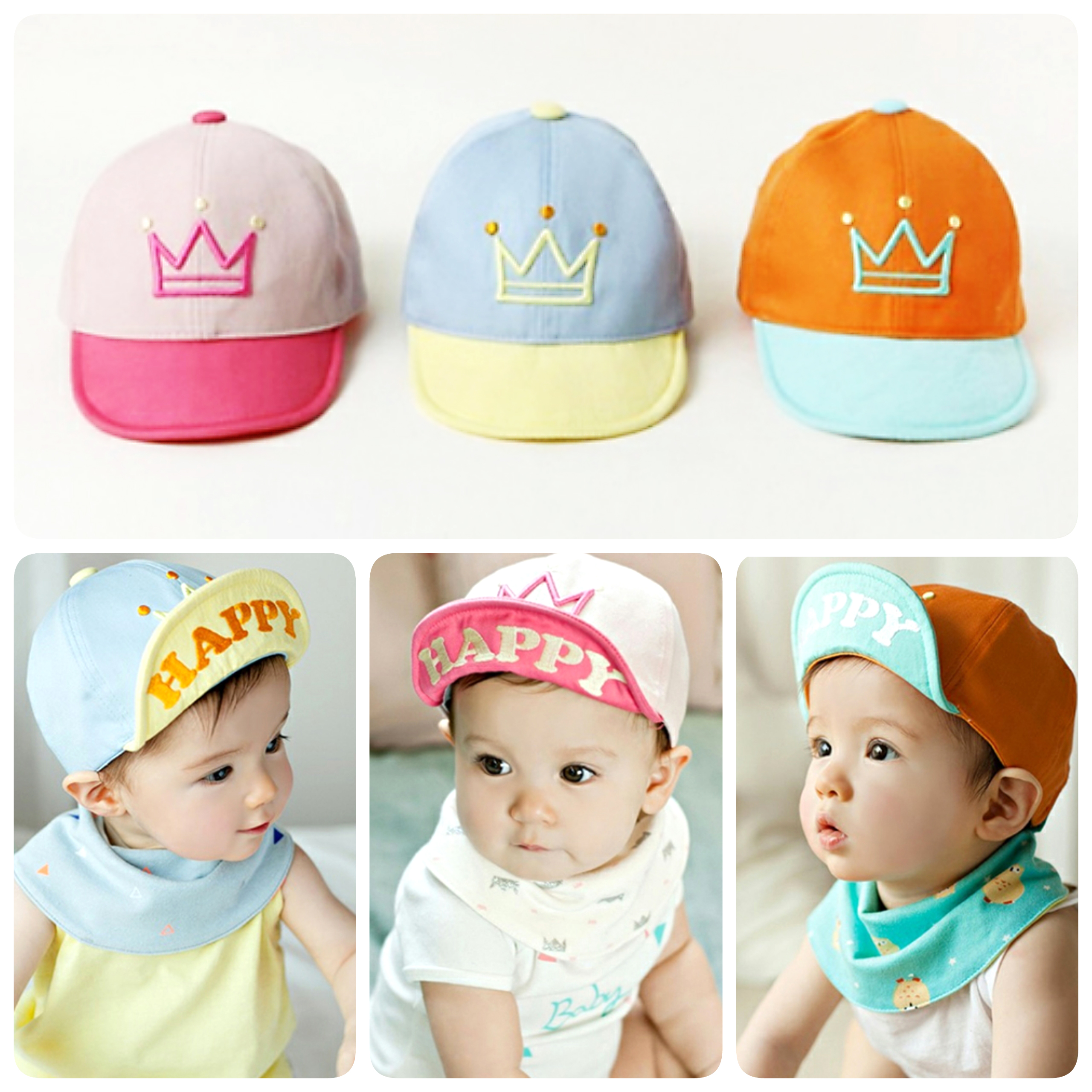 Baby Touch หมวกเด็ก แก๊ป Happy (Hat - AA)