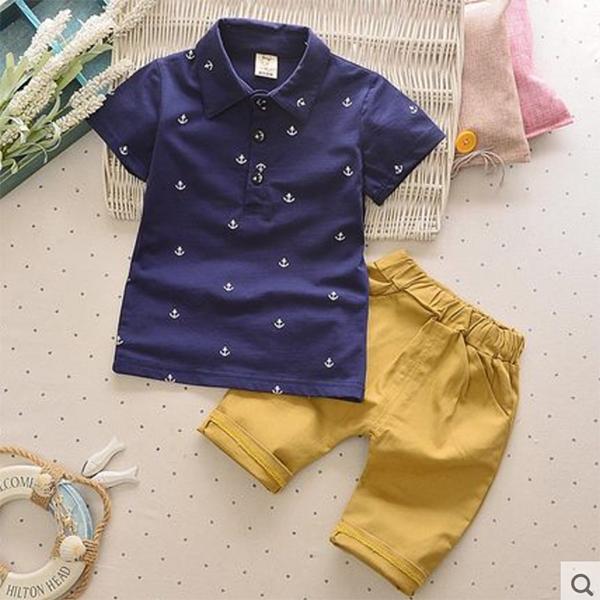 Baby Touch เสื้อยืดและกางเกง เกาหลี (โปโล)