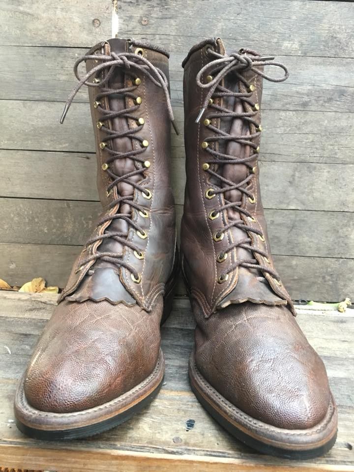 Chippewa packers boot made in USA หนังกระเบน size10D