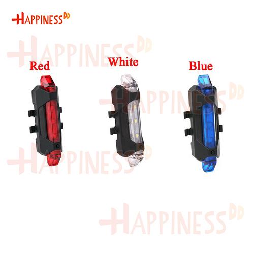 HappinessDD ไฟท้าย ไฟกระพริบ จักรยาน LED ชาร์จUSB แบบสายยางรัด