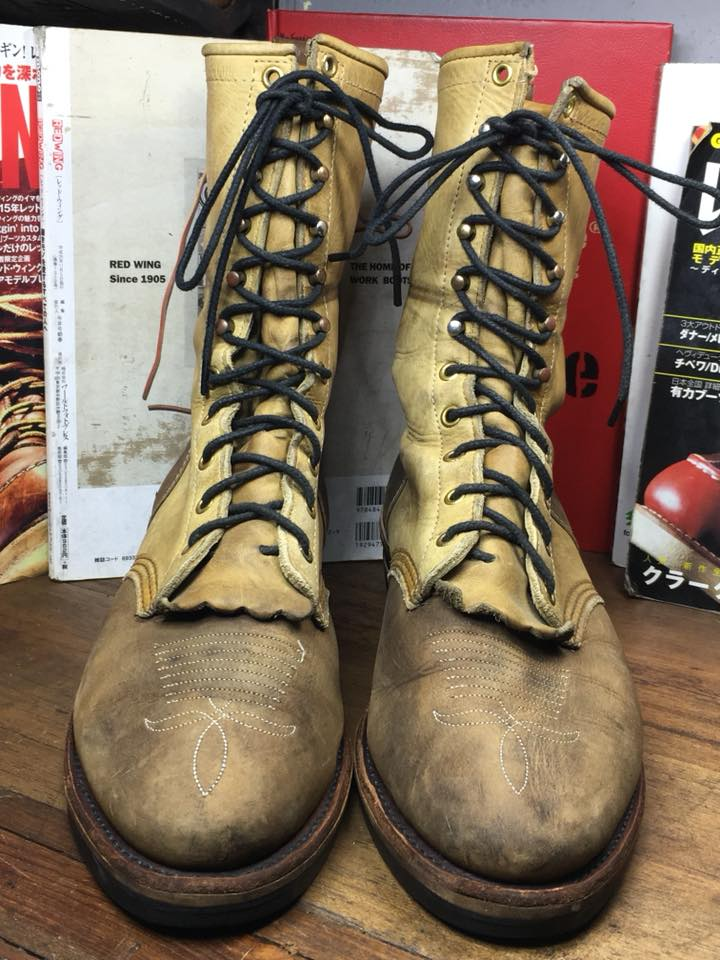 Chippewa packers cowboys boot USA size10.5D