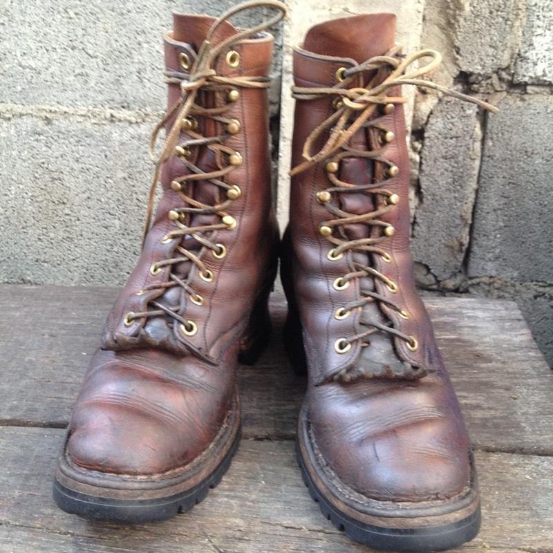 Vintage Smoke jump boot's งานเมการุ่นเก่าๆ หนักๆ size 8B/25CM เหมาะกับเท้าเบอร์ 39-40 ราคา 2200