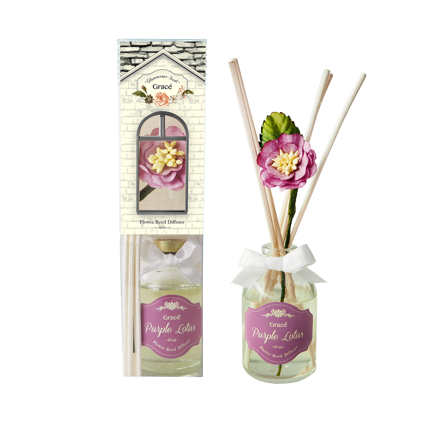 Reed Diffuser 50 ml (Small) - Purple Lotus