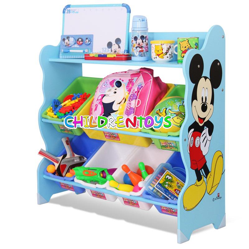 ชั้นวางของเล่นเด็ก มิกกี้เมาส์ Mickey Mouse Keeping Toys สีฟ้า