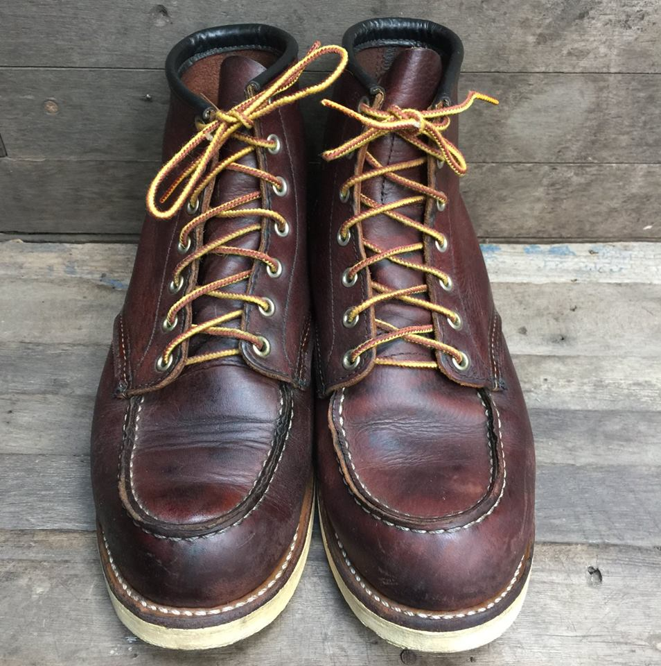 Red Wing Heritage Moc Toe Boots 8146 พื้นขาว เบอร์9
