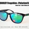 Oakley Frogskins : Polarized Collection - Black Ink / Jade Iridium Polarized Lens