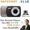 กล้องติดรถยนต์ SAFEFIRST รุ่น S11R (มีกล้องหลัง ไม่รวมติดตั้ง)
