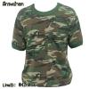 เสื้อยืดทหารแขนสั้น+มีกระเป๋า
