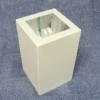 กระป๋องเหลี่ยมติดลอย 12.5x12.5 cm.