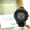 Tendence Swiss Made Steel Watch - Silver / Brown