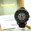 Tendence Swiss Made Steel Watch - Silver / Brown