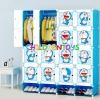 ตู้เสื้อผ้าเด็กพลาสติก DIY ลายโดราเอม่อน Doraemon