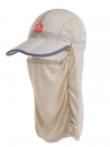 Nature Hike | Folding Quick-Dry Cap with Protective Breathable Mesh (Khaki)