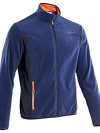 Quechua Men's Fleece Full Zip สำหรับอุณหภูมิ 7 ถึง 10 องศา - Blue