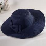 หมวกทรงWide brim สีกรม ONE SIZE