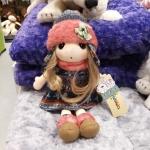 ตุ๊กตาเด็กผู้หญิง หมวกสีโอรส 40 CM